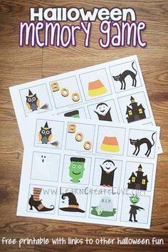 Printable Halloween Memory Game