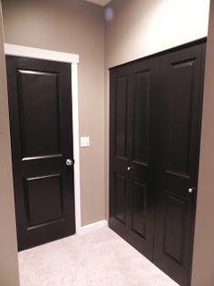 black interiors, black interior doors, door black