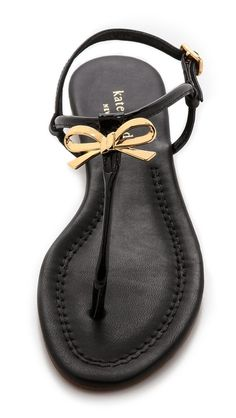 Super cute bow sandals? Yes, please! animals, bows, accessories, shoes kate spade, fashion women, kate spade sandals, kate spade bow sandals, black, pretti bow