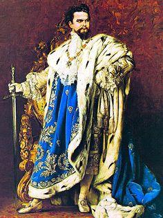 King Ludwig II of Bavaria, (painted 1887)  (Built Neuschwanstein Castle http://en.wikipedia.org/wiki/Neuschwanstein_Castle )