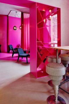 hot pink walls