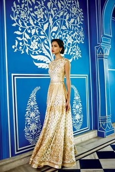 Anita Dongre Festive 2014 collection gold lengha gown