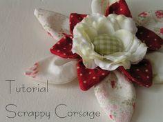 Tea Rose Home: Tutorial ~Scrappy Corsage ~