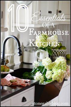 StoneGable: 10 ELEMENTS OF A FARMHOUSE KITCHEN -love this tutorial on farmhouse kitchens!  Good ideas!