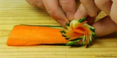 rolling the pinwheel garnish  #garnish #food #foodart