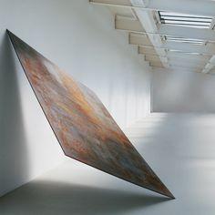 "Richard Serra Balanced 1970 Hot-rolled steel 246.4 x 157.5 x 2.5 cm 97 x 62 x 1"""