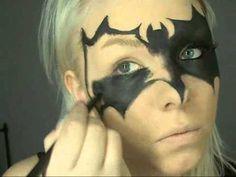 ▶ Batwomen mask makeup 0001 - YouTube