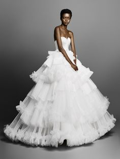 Viktor & Rolf Bridal Spring 2019 collection, runway looks, beauty, models, and reviews. | Pin discovered by Kelly's Closet bridal boutique in Atlanta, Georgia