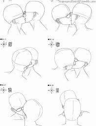 how to draw kissing lips anime