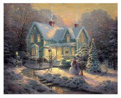 Thomas Kinkade.  Blessings of Christmas.