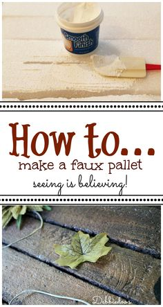 How to make a faux #pallet. You will not believe what and how you can too!