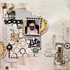 BoBunny Everyday Life Layouts. Designer Tracee Provis designed this fun layout combining several collections. #BoBunny @fluffyasever