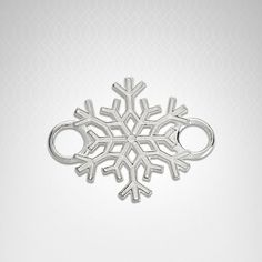 Sterling snowflake bracelet topper