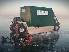 Wilcraft Amphibious Ice Fishing & Hunting Vehicle!