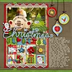 #papercraft #Scrapbook #layout #Christmas