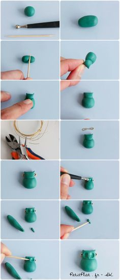 DIY Owl Necklace - Polymer Clay PetitPlat Miniatures by Stephanie Kilgast