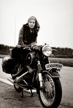 Vintage photography, black and white old motorcycle
