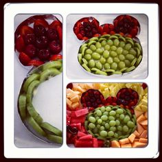Mickey Mouse ears fruit platter made for a Disney theme party