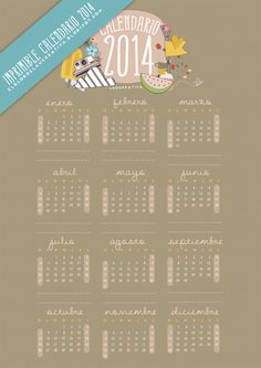 IMPRIMIBLE CALENDARIO 2014 - El blog de Laücreativa