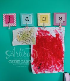 Artisan Wednesday Wow: Kids Art Canvas  by Cathy Caines
