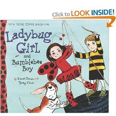 lady bug girl book - this might just have to be the book from us.  :)