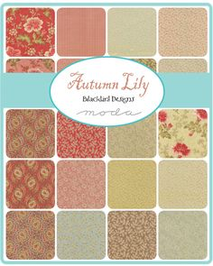 Autumn Lily by Blackbird Designs in stores September 2014 @modafabrics