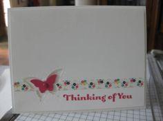 Simiple Butterfly Card