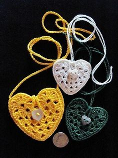 PDF Pattern Crocheted Heart Amulet Necklace by IrelandBrady, $5.00