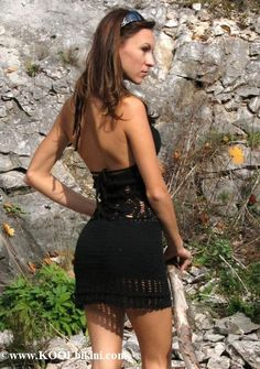 41121 - Sand Dollar Sexy Hand-Crochet Mini Dress