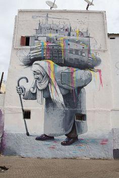 Unknown - Casablanca, Morocco weight, mural, streetart