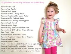 Birthday questions tradition start when they turn 3