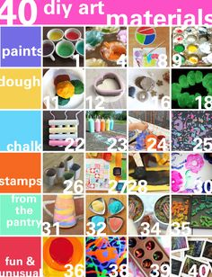 40 art materials you can make at home