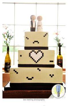 Our geeky cake that I designed. It turned out so wonderful thanks to Martine's Bakery!
