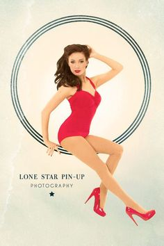 Red Retro Pin Up Halter Swimsuit One Piece by RedDollySwimwear - For my HAlloween costume