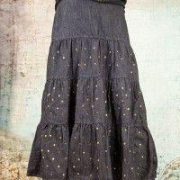 Love My Jean Skirt long, tiered denim skirt