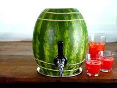 watermelon drink holder.