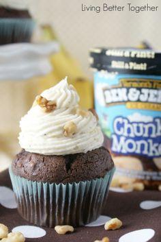 Chunky Monkey Cupcakes   www.livingbettertogether.com