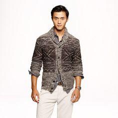 J.Crew - Alpaca Fair Isle shawl collar cardigan