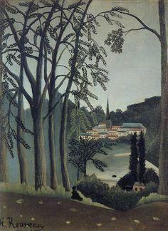 Henri Rousseau: View of Saint Cloud (1909)