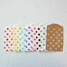 25 small KRAFT polka dot paper gift or favor by PaperAndPresent
