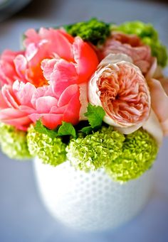 milk glass, polka dot, ranunculus, peonies. these are a few of my favorite things.