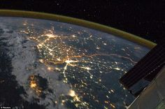 Border between India and Pakistan is so brightly lit it can be seen from the satellite.