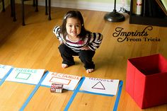 A fun way to graph shapes using household items! use for 3d shapes also thinking that this would be a good idea for the playground. maybe we could have a graph outline painted on the playground?