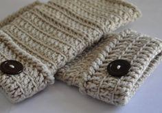 learn to crochet fingerless gloves.