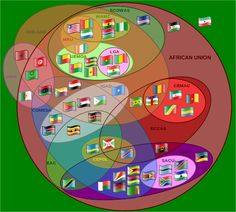Euler diagram of African Organisations