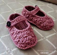 Sweetest Mary Janes Crochet Pattern PDF - Holland Designs Crochet