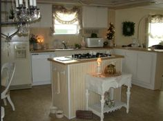 Charming Cottage Style Manufactured Home   this one is girly girl.....so cute