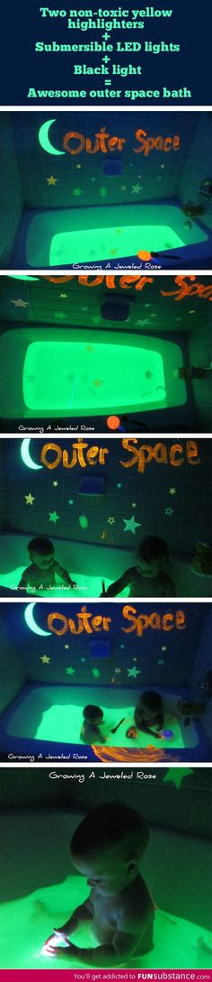 Outer space themed bath