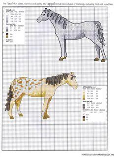 Схемы для вышивки крестом с лошадьми для начинающих