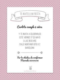 Invitaciones personalizadas gratis en español www.lafiestadeolivia.com